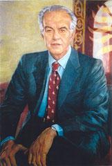 """Raul Gardini"", huile sur carton, 1994"