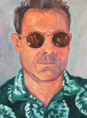 """""""Trop de soleil!"""", huile sur toile, détail, 2007"""
