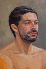 """""""Miguel"""", huile sur toile, détail, 2015"""