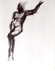 nu, graphite sur papier, 65/50 cm, 1998