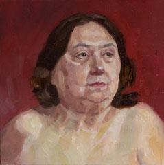 """Sorraya"", huile sur toile, 30/30 cm, 2017"