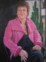 """""""Sophie Berthelier, architecte, membre de l'Académie d'architecture"""", huile sur toile, 65/50cm, 2007"""