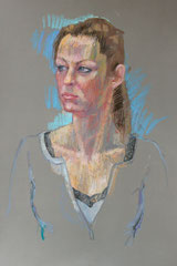 Laurence, pastel sur pastel-mat, 65/50 cm, 2014