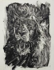 """""""wild beast"""", monotype, 40/30cm 2012"""