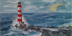 Leuchtturm im Sturm verkauft