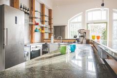 Unsere Küche – bestens ausgestattet.