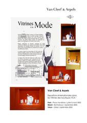 Vitrines pour Van Cleef & Arpels - Place Vendôme - Paris 1er