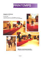 Exposition au Printemps Haussman - La Ligne printemps