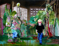 Stadtkind, 125 x 160 cm, Oil on canvas, 2006