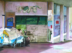 Homeless, 120 x 160 cm, Oil on canvas, 2008