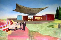 Aufschwung, 100 x 150 cm, Oil on canvas, 2003