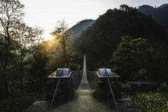 Le pont - Kaule, Népal