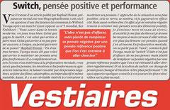 La revue Vestiaires, spécialisée dans la tactique en football reprend un de mes articles
