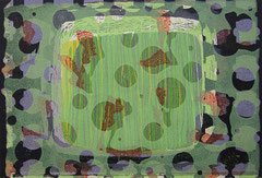 """Transfield II"", 2005, Linolschnitt auf Seidenpapier und Karton (Unikat), 49 x 72 cm"