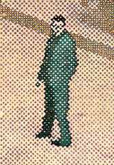 """Bote IV"", 2003, Öl auf Leinwand, 130 x 90 cm"