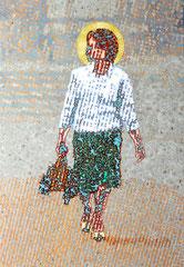 """Bote VIII"", 2012, Öl auf Leinwand, 130 x 90 cm"