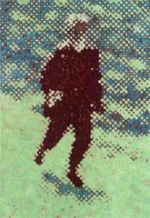 """Bote II"", 2003, Öl auf Leinwand, 130 x 90 cm"