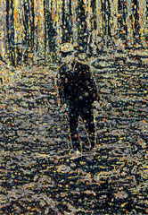 """""""Bote XII"""", 2019, Öl auf Leinwand, 130 x 90 cm"""