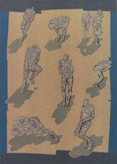 """""""Inseln"""", 1997, Linolschnitt, 140 x 100 cm"""