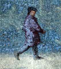"""Bote VI"", 2010, Öl auf Leinwand, 130 x 115 cm"