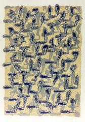 "O.T. (""Yellow Field""), 1994, Linolschnitt auf Bütten, 106 x 78 cm"
