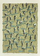 "O.T. (""Green Field""), 1993, Linolschnitt auf Bütten, 80 x 60 cm"