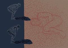 """Ruhelage I"", 1997, Linolschnitt, 100 x 140 cm"