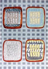 """Nachtprogramm 1"", 1995, Linolschnitt (Unikat), 140 x 100 cm"