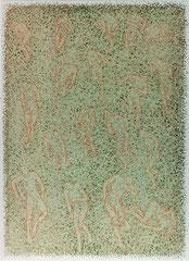 "O.T. (""Dangerous Field""), 1996, Linolschnitt auf Bütten, 106 x 78 cm"