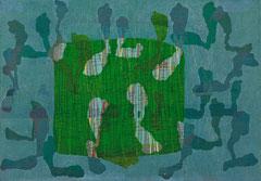 """Transfield VIII"", 2008, Linolschnitt auf Seidenpapier und Karton (Unikat), 48  x 69,3 cm"