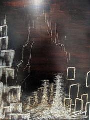Erlkönigspiel   Tritychon   2014   Lamoulack, Eitemperabasis auf Zink   40x30 cm