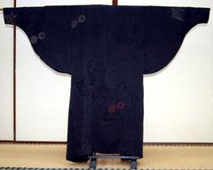 羽織から作るコート(背面)