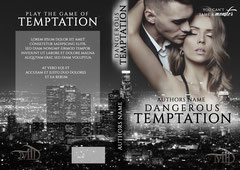 temptation - available • E-book+print 150€ • Title font and effects can be changed and adjusted.