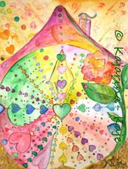 <h1>Liebe vereint die Welt</h1><b>Verwendete Materialien/Größe</b><br/>Hochwertiger 300g/qm Künstlerkarton, Aquarell-Poesie, ohne Rahmen<br/>30cm x 40cm<br/><br/><b>Preis: Ich hab' schon eine Heimat</b>
