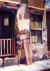 Luz en su casa 1984 Acuarela Rafael Espitia