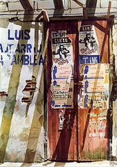 Llegó el Circo 1984 Acuarela Rafael Espitia