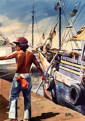Cotero 1987 Acuarela Rafael Espitia