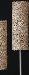 Holzscheiben Stehleuchte