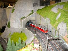 Güterzug mit Schiebelok (1101)