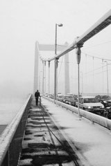 Bridge in snowdrift (Cologne, Germany. 2004)