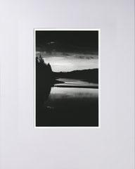 Dusk. Bevertalsperre, Bergisches Land, Germany. 2020 (Silvergelatineprint, 40x50 cm)