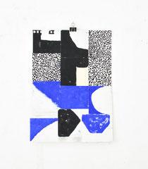 Sasha Pichushkin, Collage_13, Mischtechnik auf Papier, 30 x 42 cm, Galerie SEHR Koblenz