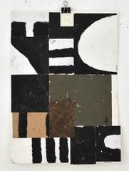 Sasha Pichushkin, Collage_15, Mischtechnik auf Papier, 30 x 42 cm, Galerie SEHR Koblenz