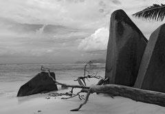 Monique : Plage aux Seychelles
