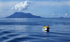 Monique : Barque pêche aux seychelles