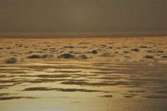 Frank : Ombres de nuages sur l'océan atlantique, vue des hauteurs de Ténérife - Espagne
