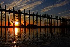 Philippe : Pont de U-Bein en Birmanie