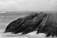 Monique : Rocher aux Seychelles