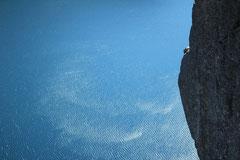 Irène : Plan du rocher Preikestolen, Norvège