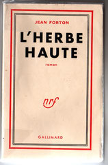 Édition originale de L'Herbe haute 1e couverture. Cliquez sur l'image pour l'agrandir.